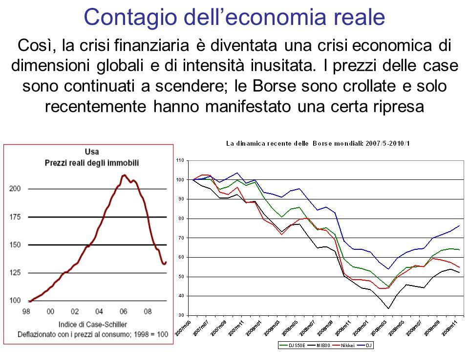 Così, la crisi finanziaria è diventata una crisi economica di dimensioni globali e di intensità inusitata.
