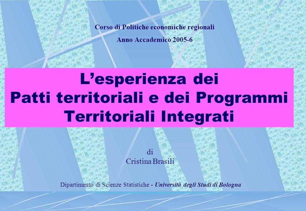 Rapporto Annuale del DPS 2004- I PIT nelle regioni Obiettivo 1 e in Phasing Out