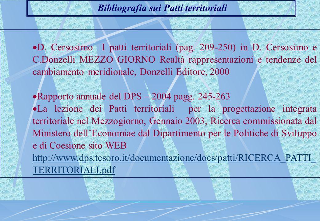  D. Cersosimo I patti territoriali (pag. 209-250) in D.