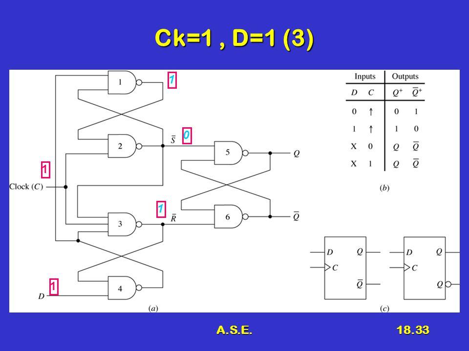 A.S.E.18.33 Ck=1, D=1 (3) 1 1 0 1 1