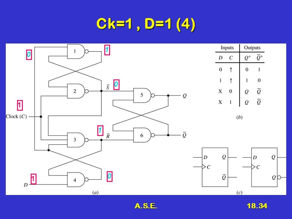 A.S.E.18.34 Ck=1, D=1 (4) 1 1 0 1 1 0 0