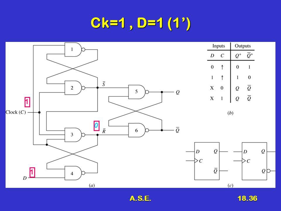 A.S.E.18.36 Ck=1, D=1 (1') 1 1 0
