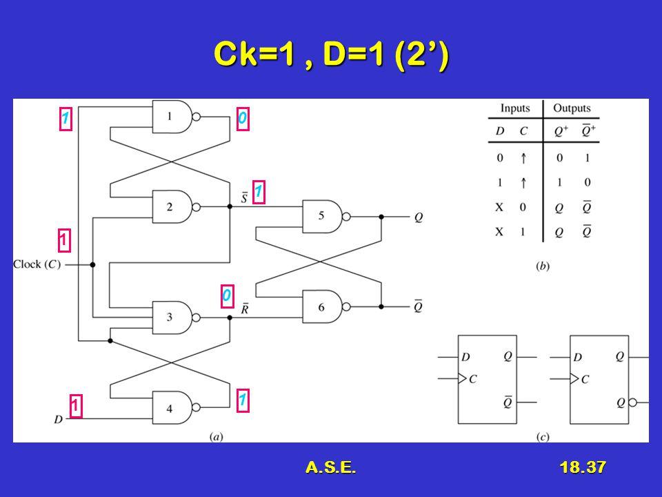 A.S.E.18.37 Ck=1, D=1 (2') 1 1 0 1 1 1 0