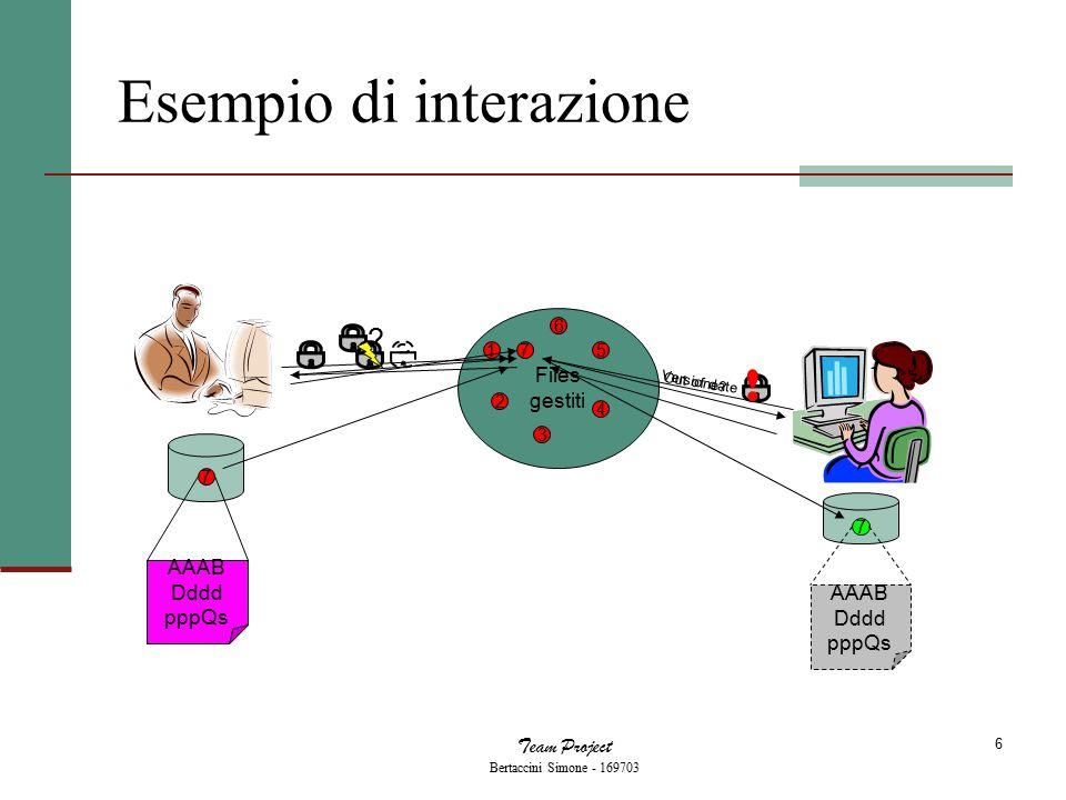 Team Project Bertaccini Simone - 169703 7 Architettura del sistema 1.