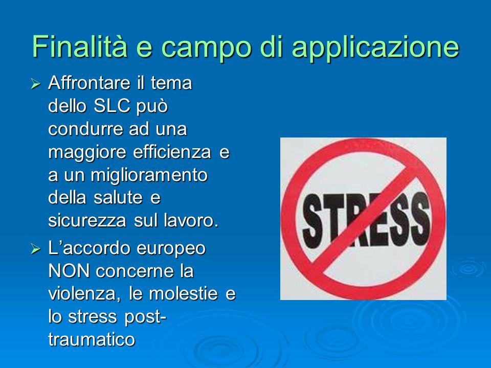 Livello di rischio BASSO Non si evidenziano particolari condizioni di stress LC.