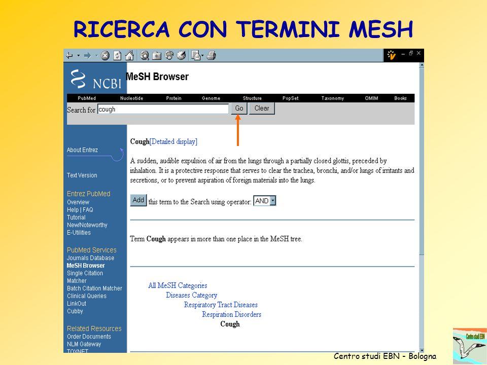 RICERCA CON TERMINI MESH Centro studi EBN - Bologna