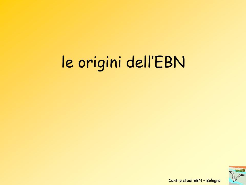 le origini dell'EBN Centro studi EBN - Bologna