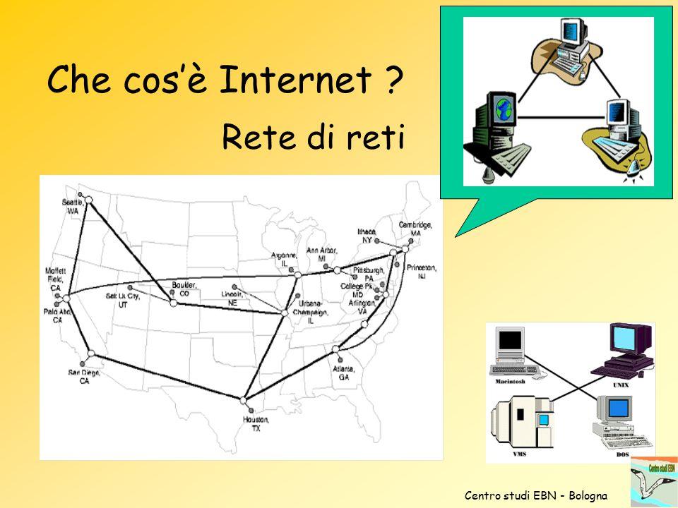 Che cos'è Internet ? Rete di reti Centro studi EBN - Bologna