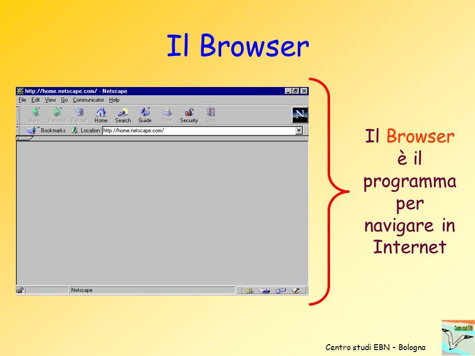 Il Browser è il programma per navigare in Internet Centro studi EBN - Bologna