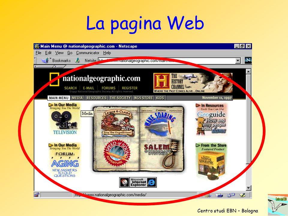 La pagina Web Centro studi EBN - Bologna