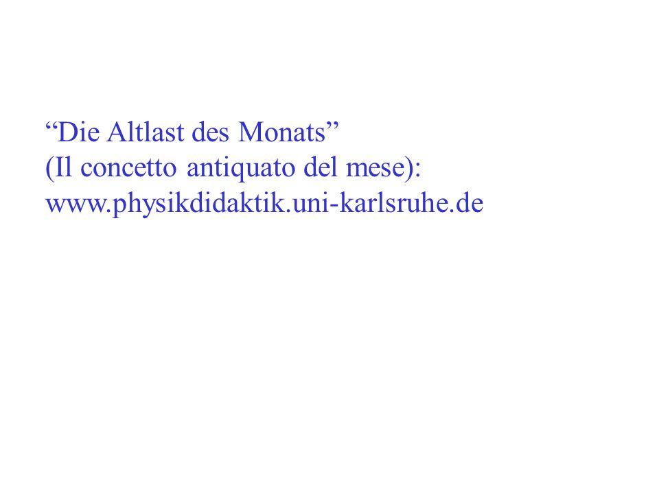 Die Altlast des Monats (Il concetto antiquato del mese): www.physikdidaktik.uni-karlsruhe.de