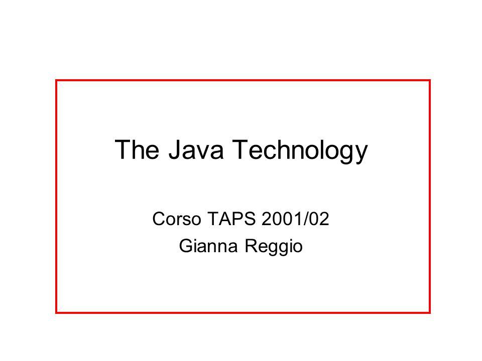 Sources ogni cosa disponibile in linea http://java.sun.com/ –specifiche (specification) *descrizioni tecniche precise –tutorial/demo/esempi –software *tutto libero, eccetto le versioni ricche di alcuni strumenti di sviluppo