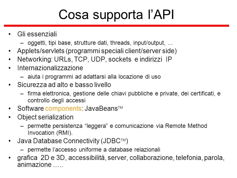 Logging supporto per produrre log reports –catturando informazioni come *security failures *configuration errors *performance bottlenecks *….