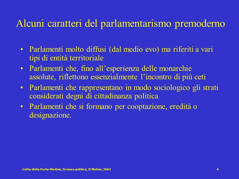 Cotta-della Porta-Morlino, Scienza politica, Il Mulino, 20015 Diverse accezioni del concetto di rappresentanza democratica [Pitkin 1967] R. come confe