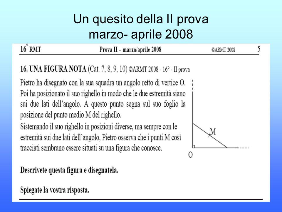 Un quesito della II prova marzo- aprile 2008