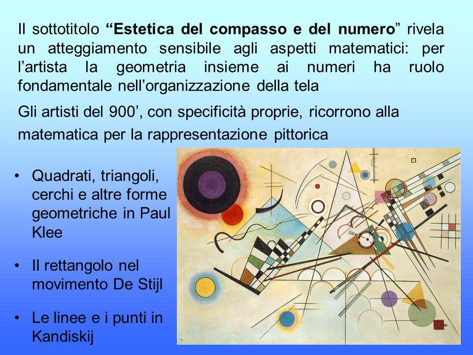 """Il sottotitolo """"Estetica del compasso e del numero"""" rivela un atteggiamento sensibile agli aspetti matematici: per l'artista la geometria insieme ai n"""