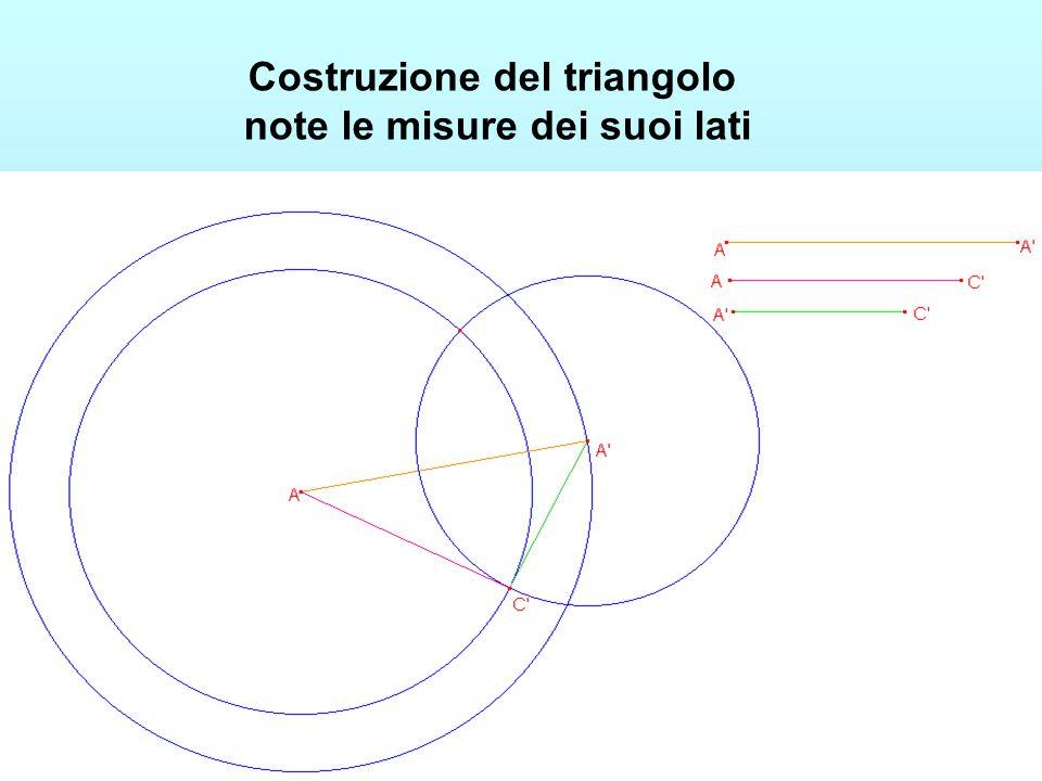 Costruzione del triangolo note le misure dei suoi lati