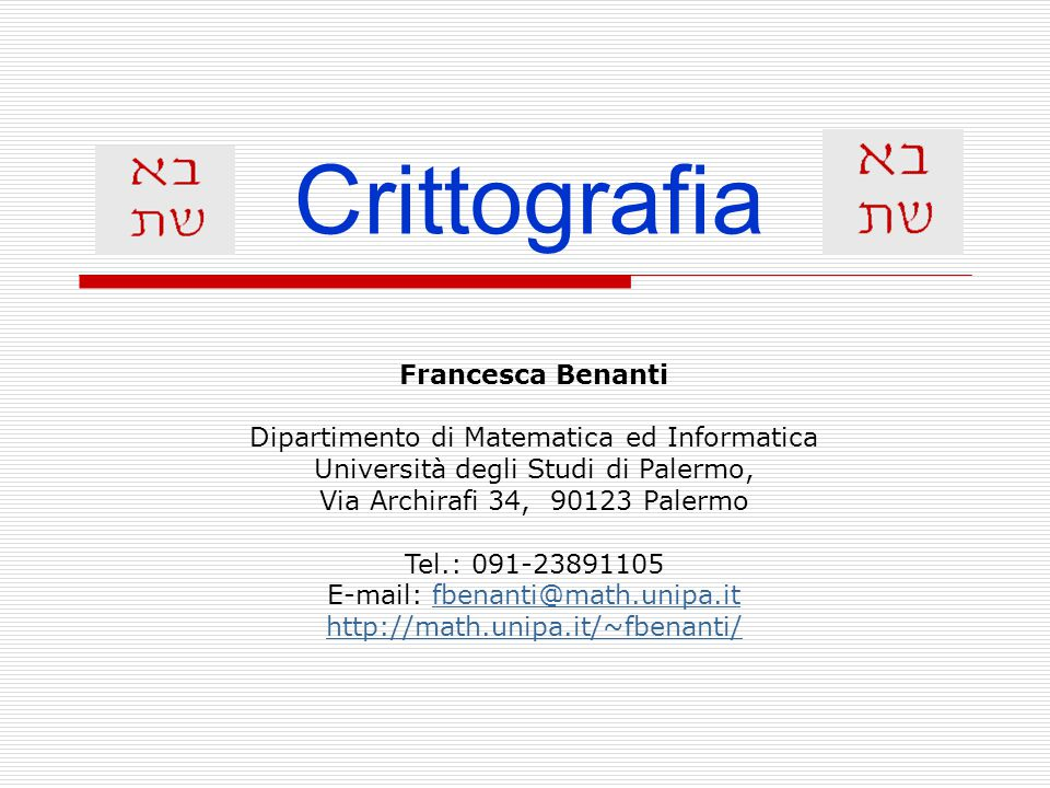 LABORATORIO DI CRITTOGRAFIA, PROGETTO LAUREE SCIENTIFICHE, LICEO SCIENTIFICO CEI, a.a.