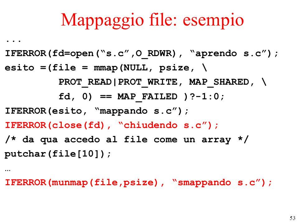 53 Mappaggio file: esempio...