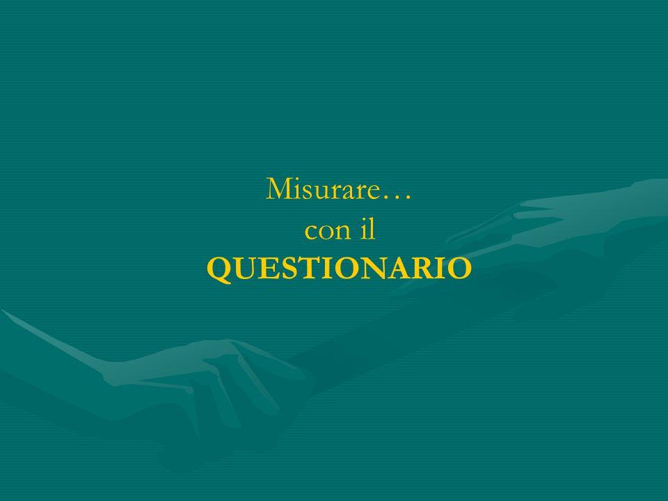Misurare… con il QUESTIONARIO