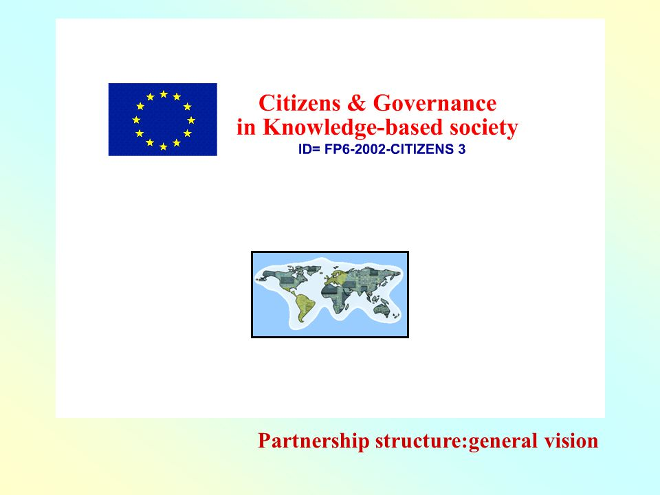 Partnership structure:general vision