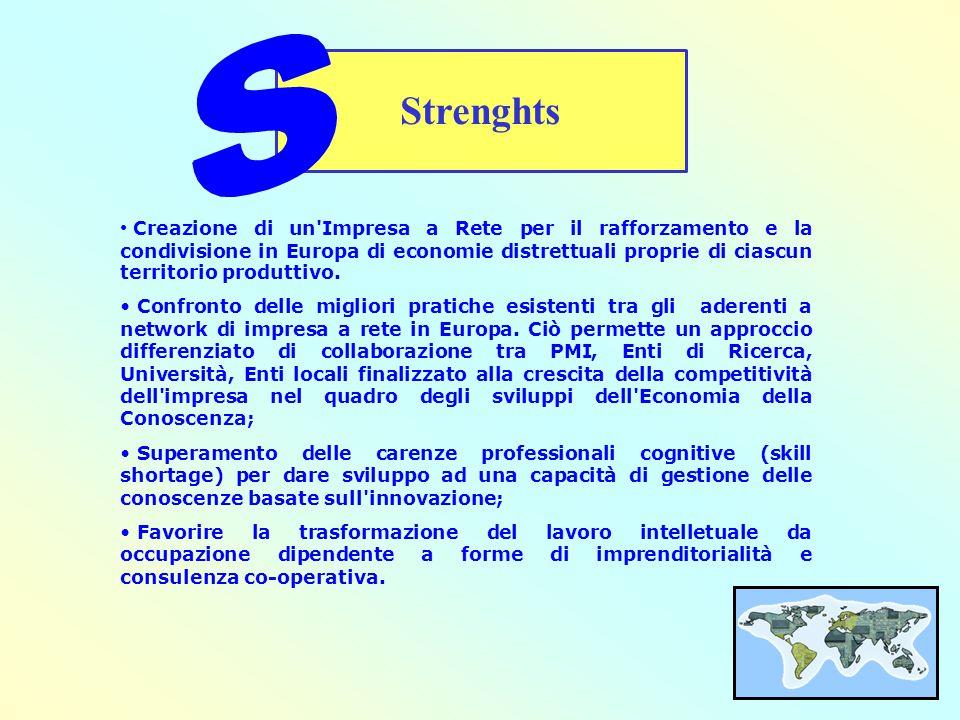 Creazione di un Impresa a Rete per il rafforzamento e la condivisione in Europa di economie distrettuali proprie di ciascun territorio produttivo.