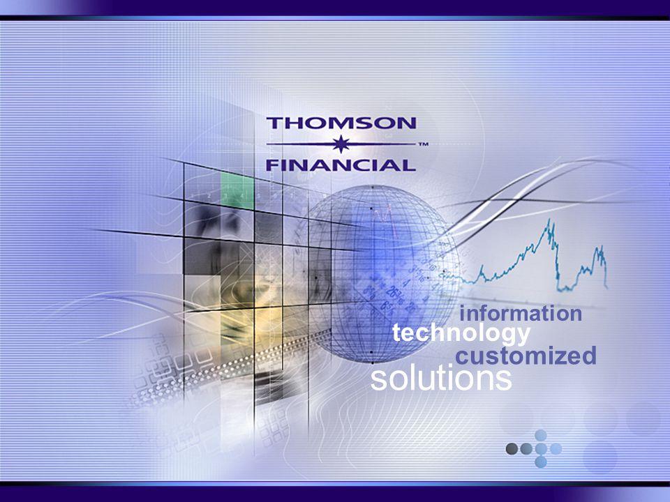 Universita' Carlo Cattaneo LIUC Ricerca di informazioni economiche 10 Aprile 2003 Thomson Financial Presentation