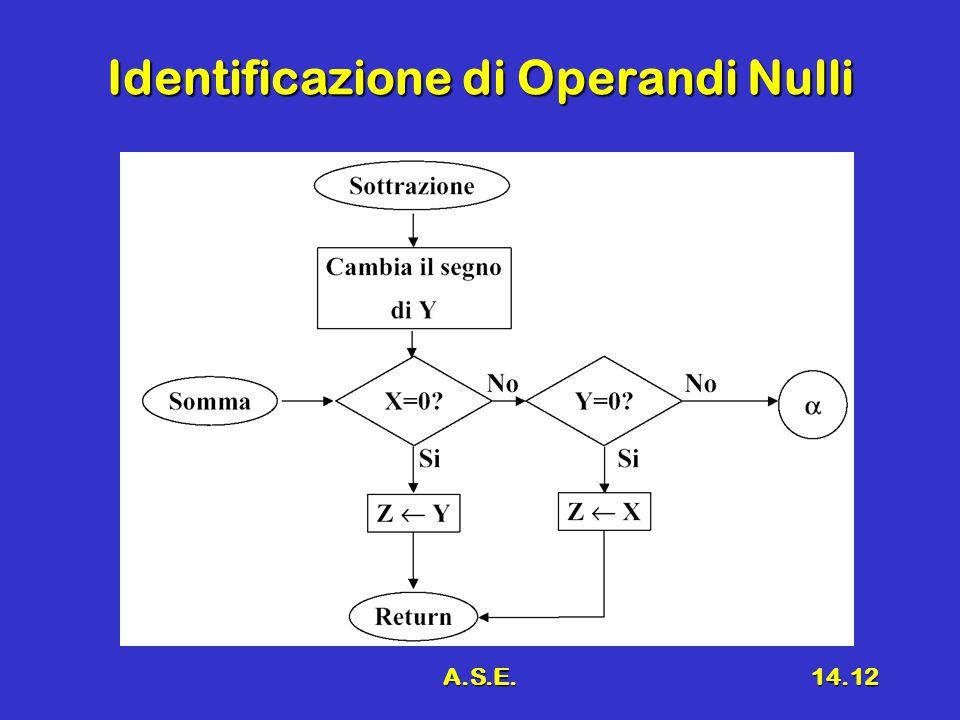 A.S.E.14.12 Identificazione di Operandi Nulli