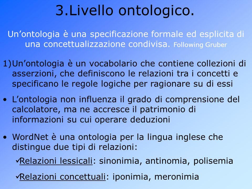 3.Livello ontologico.