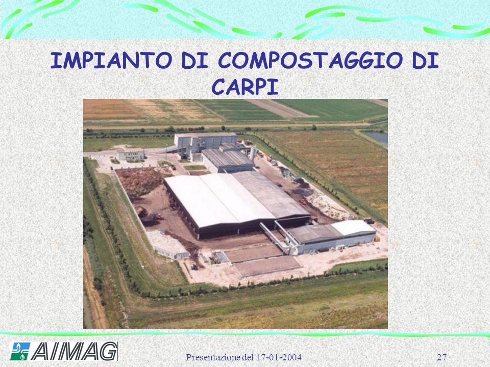Presentazione del 17-01-200427 IMPIANTO DI COMPOSTAGGIO DI CARPI
