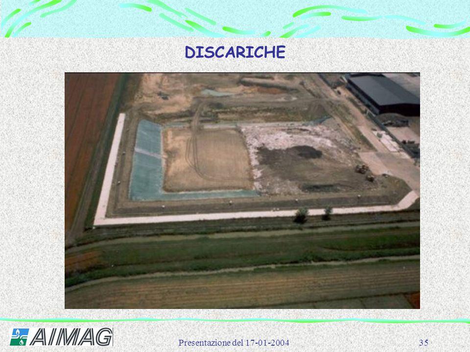 Presentazione del 17-01-200435 DISCARICHE