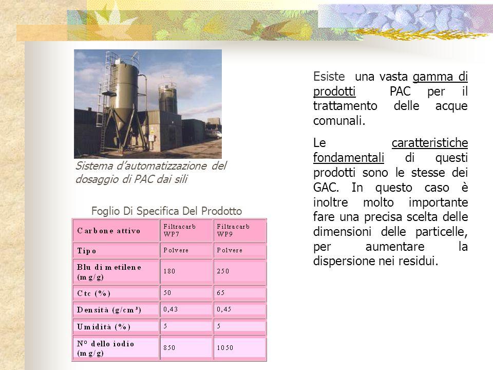 L organigramma trattato illustra un impianto per il trattamento dell acqua comunale che è usato per la rimozione dei residui d'odore e di gusto.