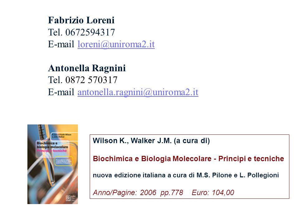 Wilson K., Walker J.M. (a cura di) Biochimica e Biologia Molecolare - Principi e tecniche nuova edizione italiana a cura di M.S. Pilone e L. Pollegion