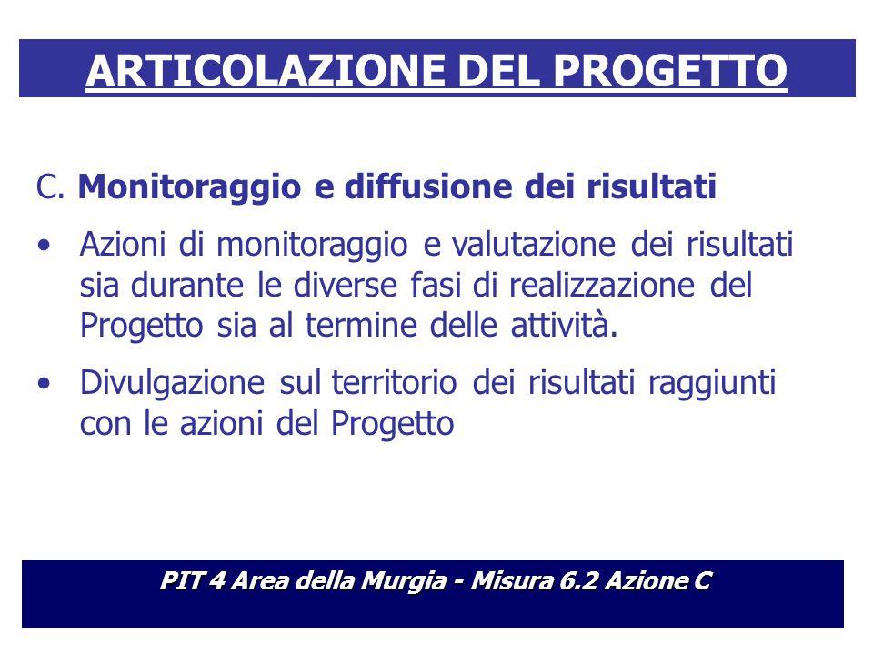 ARTICOLAZIONE DEL PROGETTO C.