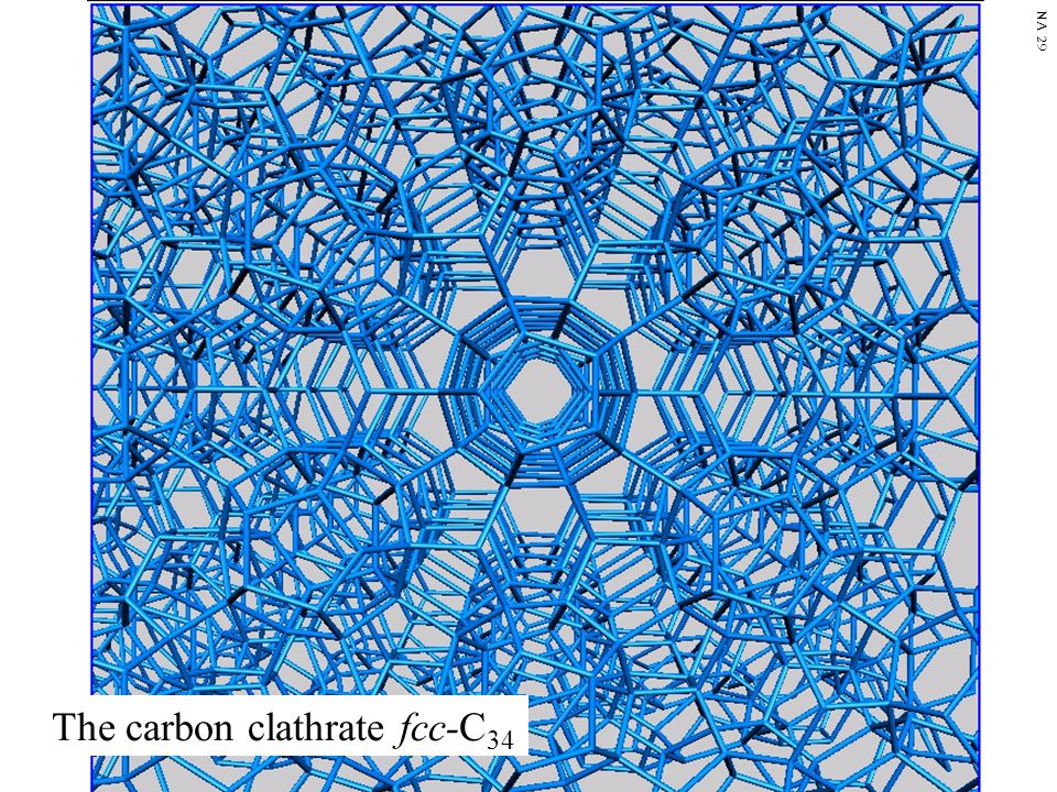 The carbon clathrate fcc-C 34 NA 29