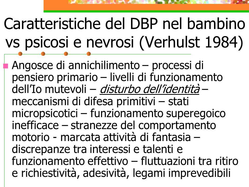 La diagnosi strutturale in età evolutiva F.Palacio Espasa e J.