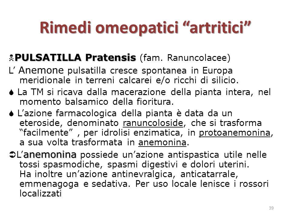 "Rimedi omeopatici ""artritici"" PULSATILLA Pratensis  PULSATILLA Pratensis (fam. Ranuncolacee) L' Anemone pulsatilla cresce spontanea in Europa meridio"