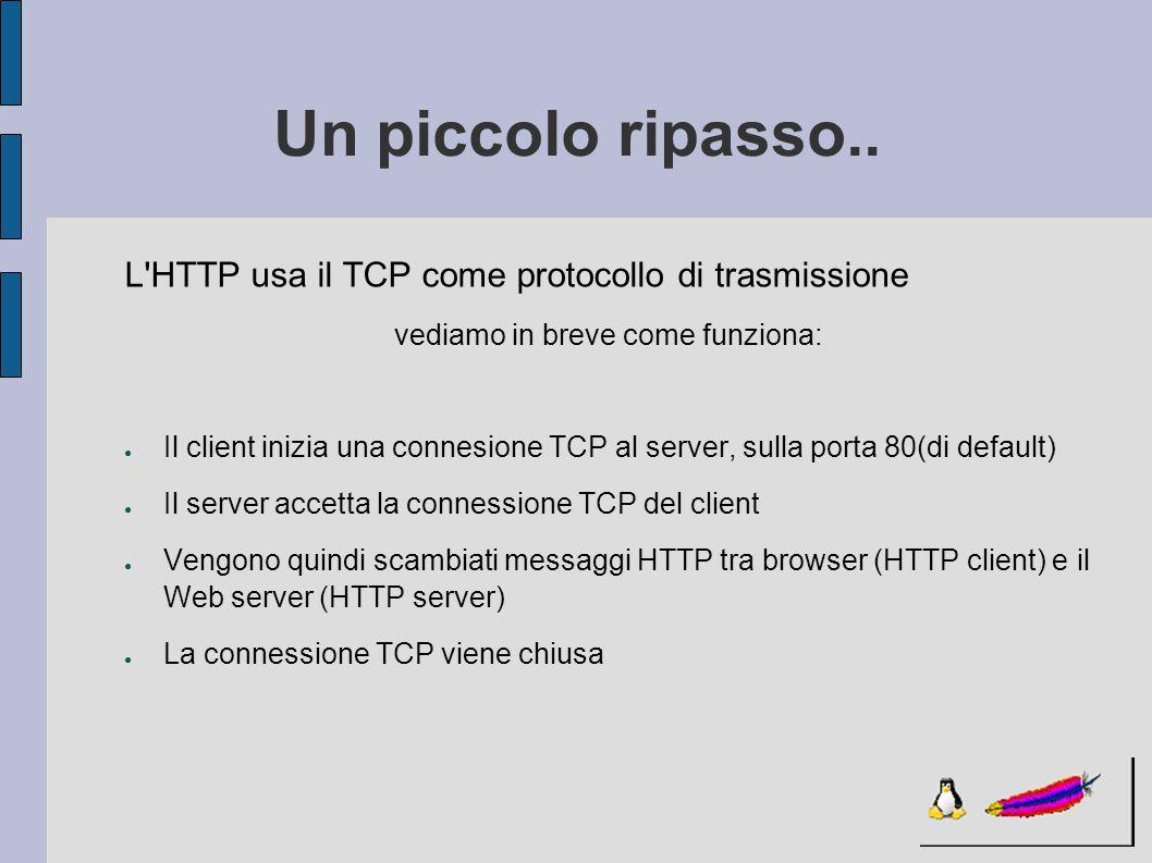 Panoramica ● Spesso però è desiderabile dispensare contenuti in funzione dell identità degli utenti ● L HTTP fornisce due meccanismi per aiutare il server ad identificare gli utenti: -AUTENTICAZIONE -COOKIE