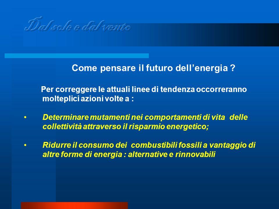 Come pensare il futuro dell'energia .
