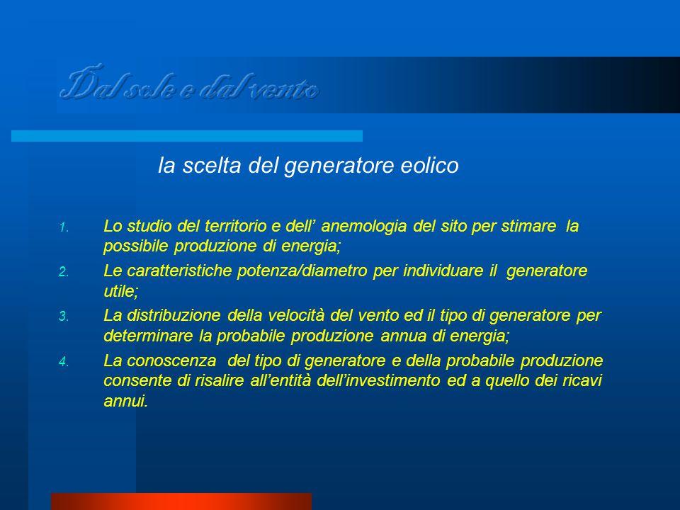 la scelta del generatore eolico 1.