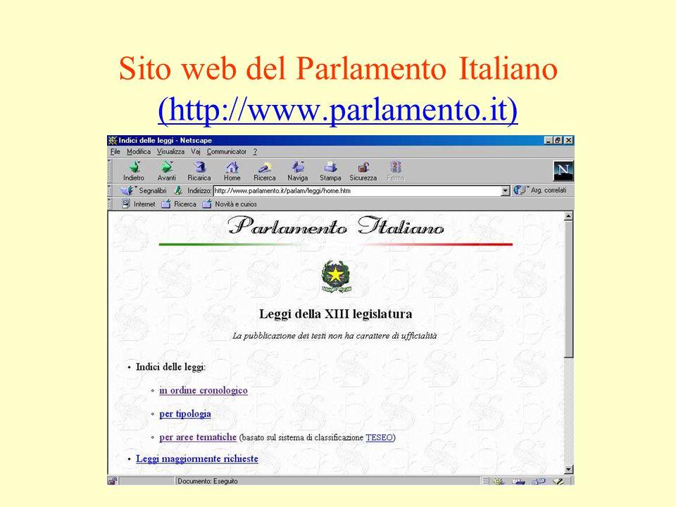 Sito web del Parlamento Italiano (http://www.parlamento.it) (http://www.parlamento.it)