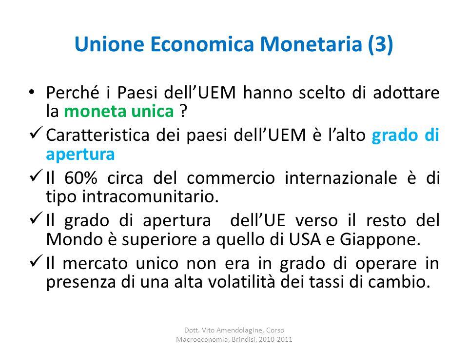 Unione Economica Monetaria (3) Perché i Paesi dell'UEM hanno scelto di adottare la moneta unica .