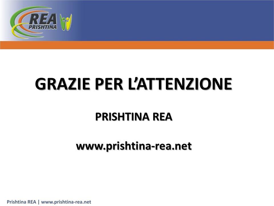 GRAZIE PER L'ATTENZIONE PRISHTINA REA www.prishtina-rea.net