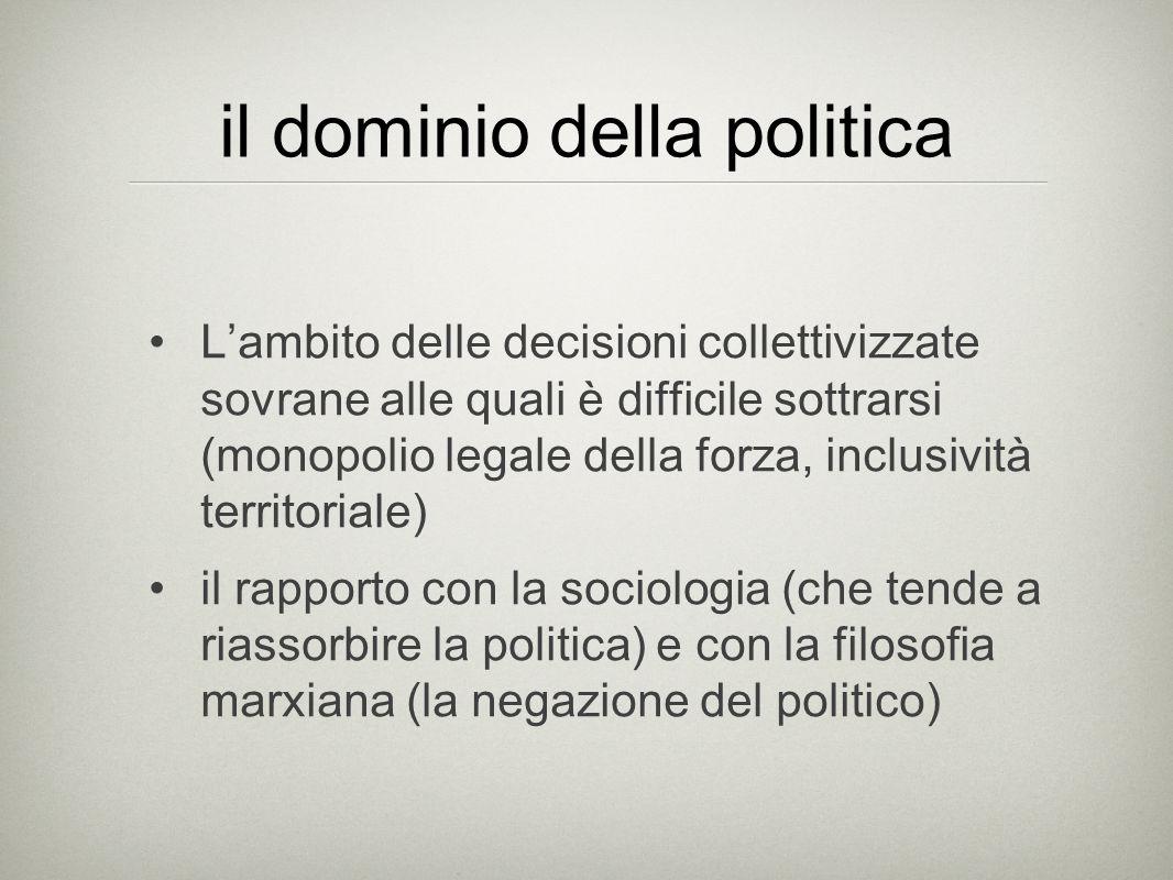 La politica oggi Dove sta e quanto è presente la politica oggi.