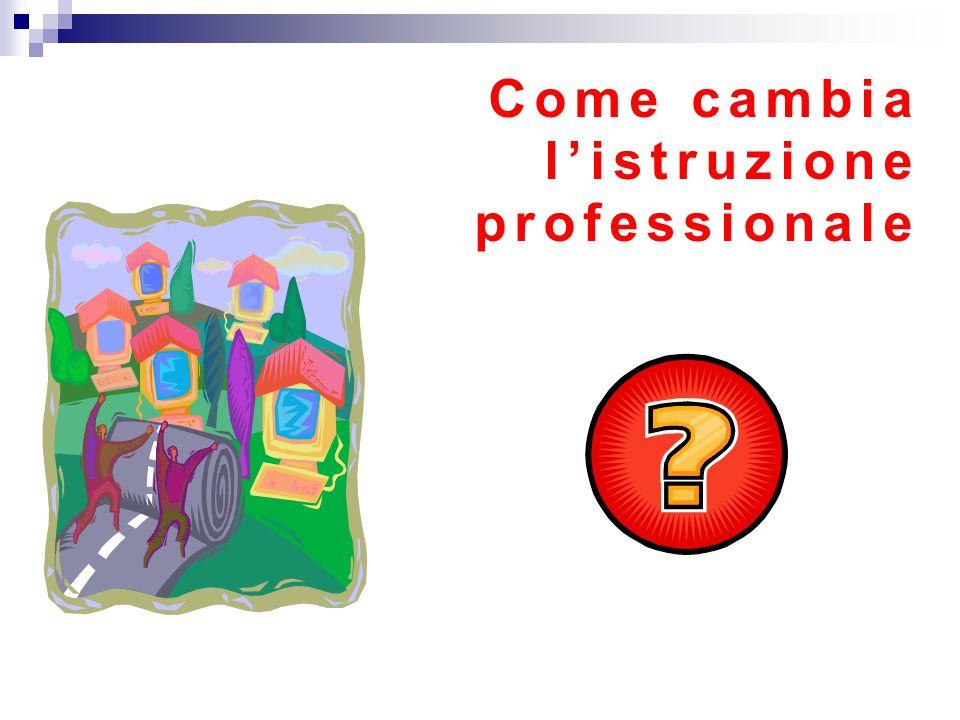 Come cambia l'istruzione professionale