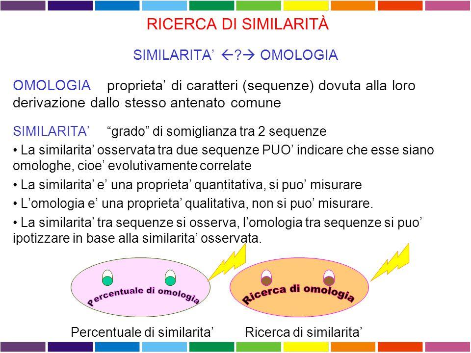 L'utilizzo della matrice di similarita' appropriata per ciascuna analisi e' cruciale per avere buoni risultati.