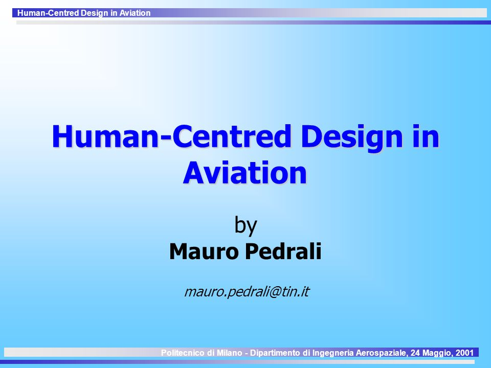 Human-Centred Design in Aviation 1 a Generazione Comet DC-9 DC-8 B707