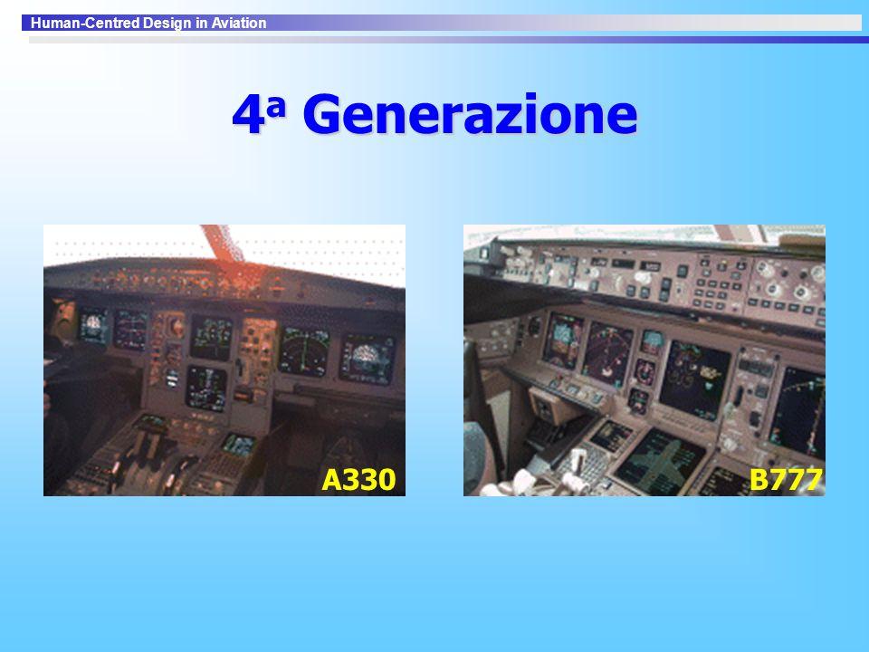 Human-Centred Design in Aviation 4 a Generazione A330B777
