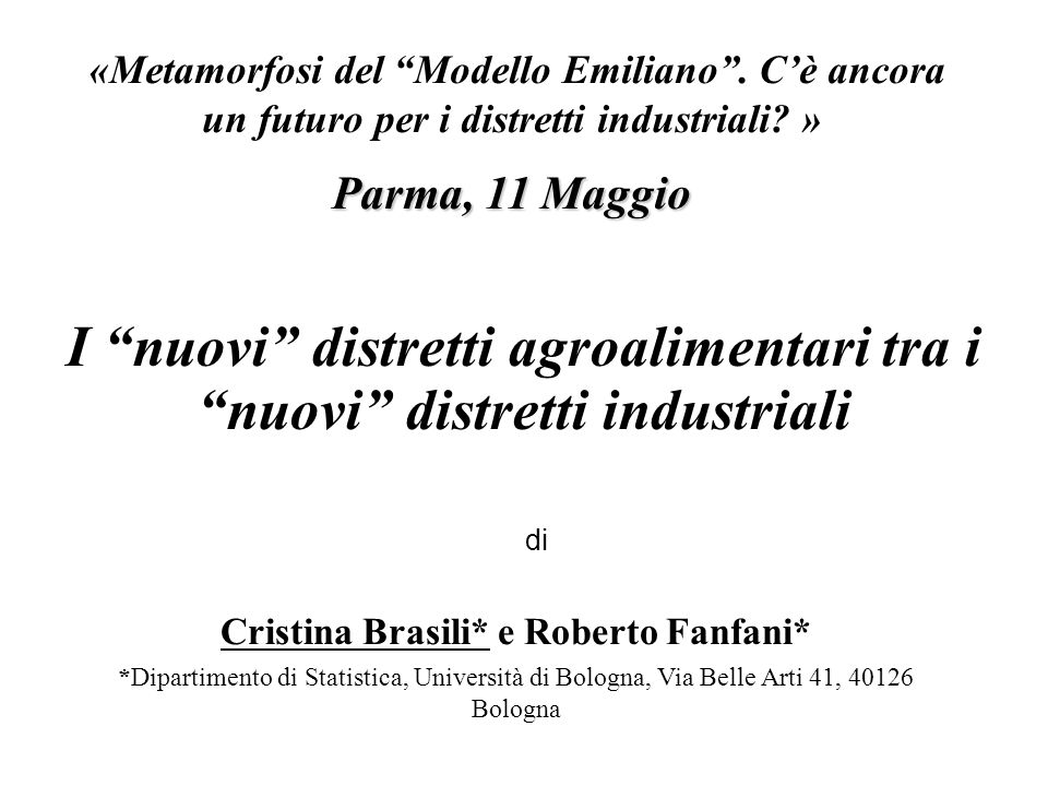 Import-Export dell agroalimentare in Italia (milioni di euro) e % sul totale (1999-2009) Fonte: elaborazioni ICE su dati ISTAT «Metamorfosi del Modello Emiliano .