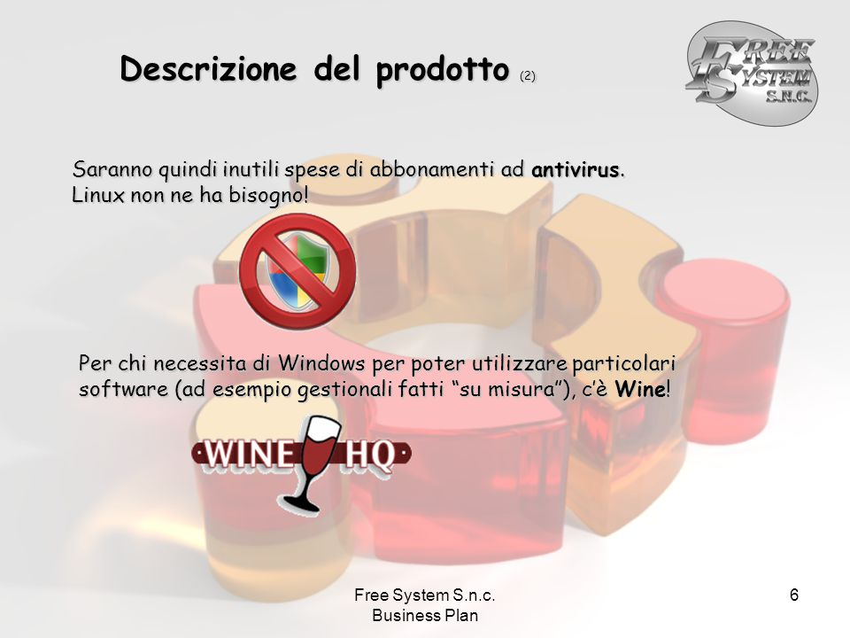 Free System S.n.c. Business Plan 27 L'organizzazione aziendale (4) Business Process